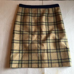 Boden British tweed by noon plaid wool lined skirt